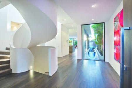 escalier design - Bayside townhouses par Martin Friedrich architects - Melbourne, Australie
