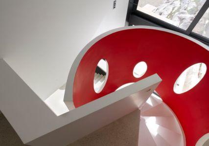 escalier design - Casa Farfalla par Michel Boucquillon - Toscane, Italie