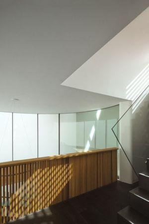 escalier design & balustrade en verre - maison exclusive par CplusC - Waverley, Australie