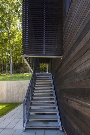 escalier direct accès terrasse étage - Red Rock House par Anmahian Winton Architects - Red Rock, Usa