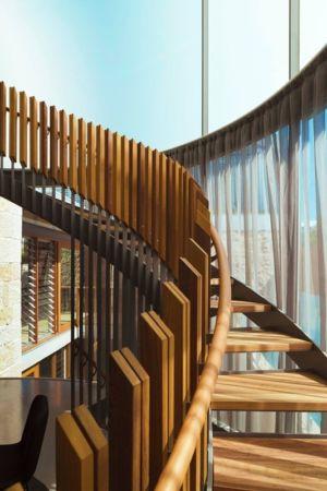 escalier en bois - maison exclusive par CplusC - Waverley, Australie