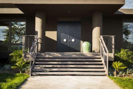escalier entrée - Las Canoas par Thompson Naylor Architects - Santa Barbara, CA, Usa