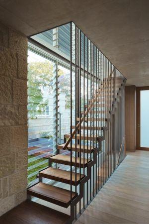 escalier entrée - maison exclusive par CplusC - Waverley, Australie