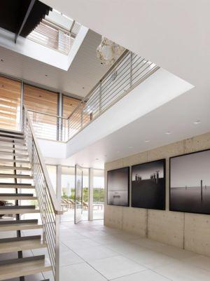 escalier et accès terrasse rdc - Ocean Deck House par Stelle Lomont Rouhani Architects - Bridgehampton, USA