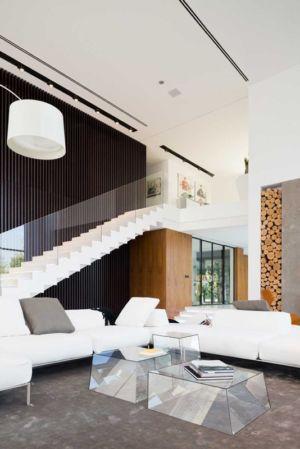 escalier et salon - Villa Agalarov par SL Project - près de Moscou, Russie