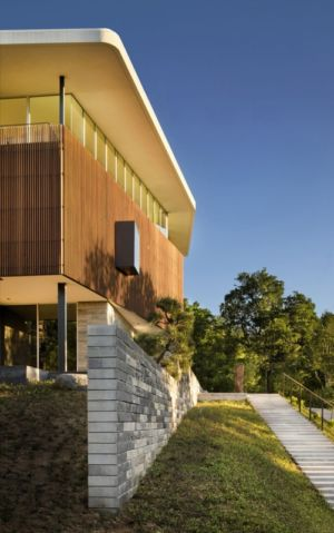 escalier extérieur - East Windsor Residence par Alterstudio - Austin, Usa - Photo Paul Finkel