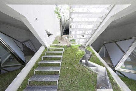 escalier extérieur - HWA HUN par IROJE KHM Architects - Pyeongchang-dong, Corée du Sud