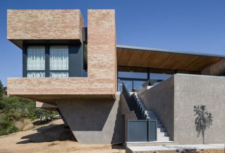 escalier extérieur - House-Molino par Mariano Molina Iniesta, Espagne