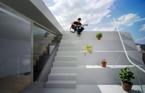 escalier extérieur accès toit - Casa Lude par Grupo Aranea - Cahegin, Espagne