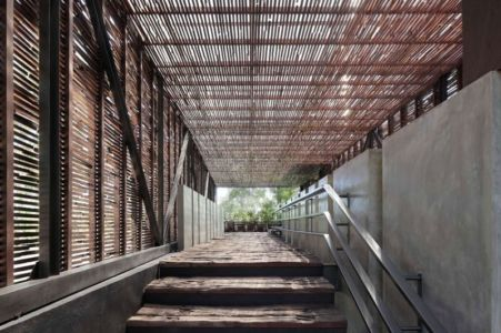 escalier extérieur entrée - Villa Pecatu par Wahana Cipta Selaras - Pecatu, Indonésie