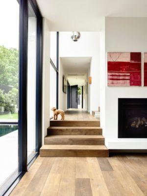 escalier itnermédiaire - Kew House par Amber Hope Design - Melbourne, Australie