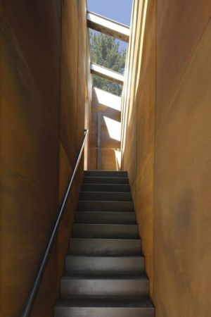 escalier - lake house par Taylor and Miller Architecture and Design - Usa