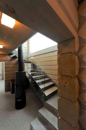 escalier niveau supérieur - Cozy-Wooden-Cottage par JVA - Oppdal, Norvège