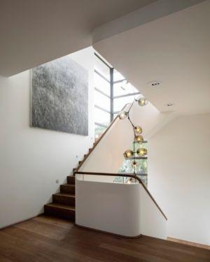 escalier palier - Waterfront House par Luigi Rosselli Architects - Sydney, Australie