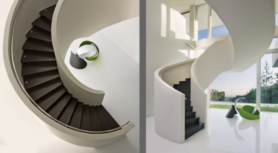 escalier sculptural - Sarbonne par McClean Design - Los Angeles, Usa