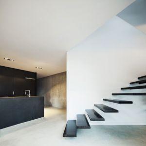 escalier suspendu - maison exclusive par Mirag Arquitectura i GestiO - Ametlla, Espagne