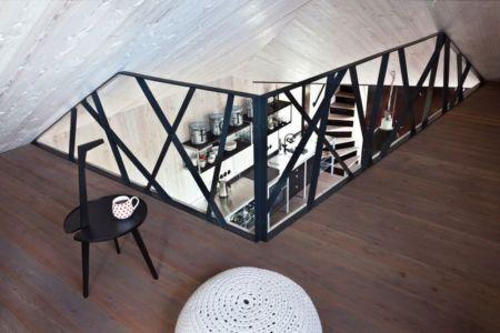 espace étage - Wooden-House par ASGK design - Lodin, République Tchèque
