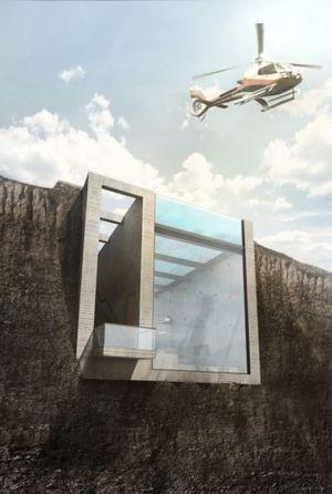 espace balcon semi-enterré - Casa Brutale par OPA_Open Plateform - Grèce
