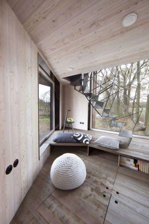 espace coin repos - Wooden-House par ASGK design - Lodin, République Tchèque