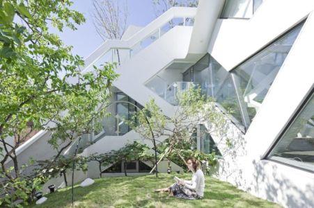 espace jardin - HWA HUN par IROJE KHM Architects - Pyeongchang-dong, Corée du Sud