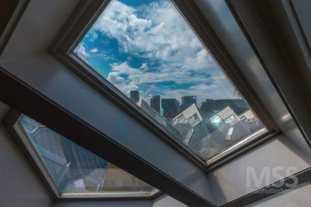 espace toit vitré - Cube-houses par Piet Blom - Rotterdam, Pays-Bas