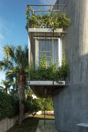 extension entourée de plantes - Sun Path House par Studio Christian Wassmann - Miami, USA