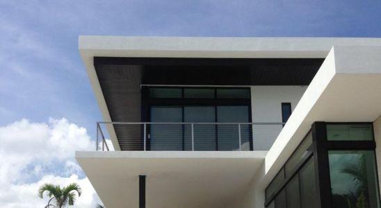 façade étage - Hucker Residence par Strang - Miami, USA