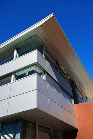 façade - Anthrazit House par Architects Magnus - Santa Barbara, Usa
