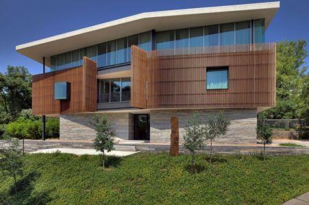 façade - East Windsor Residence par Alterstudio - Austin, Usa - Photo Paul Finkel