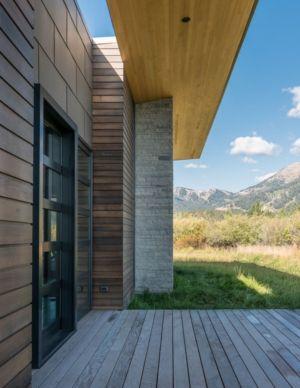façade Hauteur maison - Maison Contemporaine Bois par Carney Logan Burke Architects - Wilson, Usa