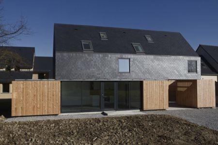 façade - Maison L. ossature bois par Atelier 56S - France - Photo Jeremías Gonzalez