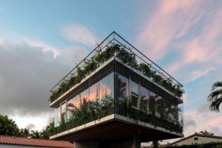 façade étage - Sun Path House par Studio Christian Wassmann - Miami, USA
