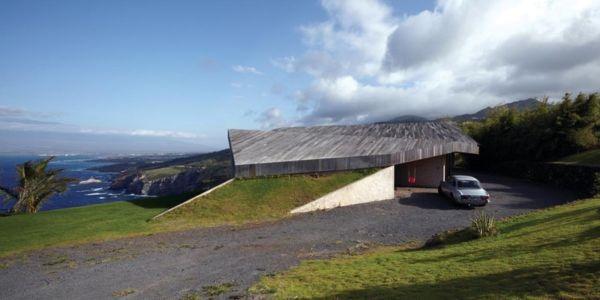 façade accès chemin - Clifftop House Maui par Dekleva Gregoric Arhitekti - Maui, Hawaï