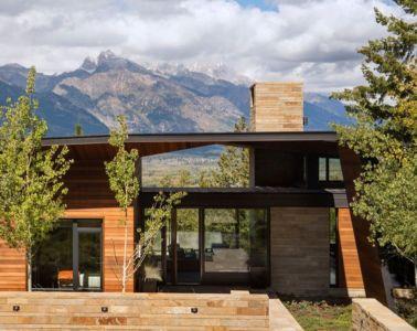façade arrière - Butte Residence par Carney Logan Burke Architects - Jackson, Usa