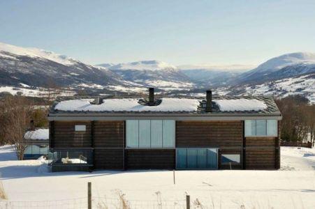 façade arrière - Cozy-Wooden-Cottage par JVA - Oppdal, Norvège