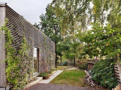 façade arrière - Green Bean House par Arctic Studio - Onsala, Suède