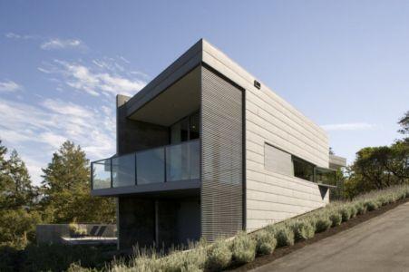façade arrière - Maison contemporaine béton par Cooper Joseph Studio - Sonoma, Usa