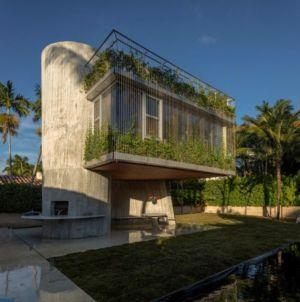 façade arrière - Sun Path House par Studio Christian Wassmann - Miami, USA