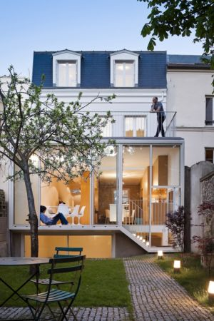façade arrière extension - maison - Atelier Zundel Cristea- Photo Sergio Grazia - France