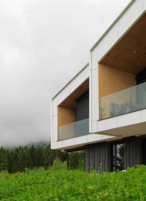 façade balcon - Mountain-View House par SoNo arhitekti - Kitzbuehel, Slovénie