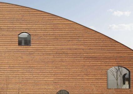 façade bardage bois horizontal - maison bois contemporaine par Masahiro Miyake - Tokushima, Japon