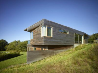 façade bois arrière - Vineyard-Farm-House par Charles Rose Architectes - Vineyard, USA
