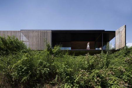 façade bois brut - Sawmill-House par Archier - Yackandandah, Australie