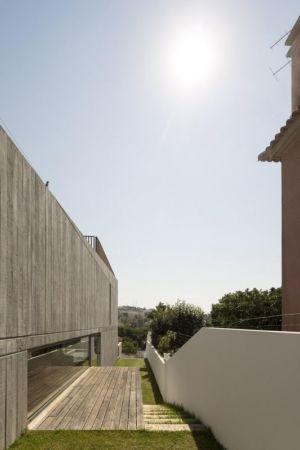 façade terrasse- house-caxias par António Costa Lima Arquitectos - Caxias, Portugal