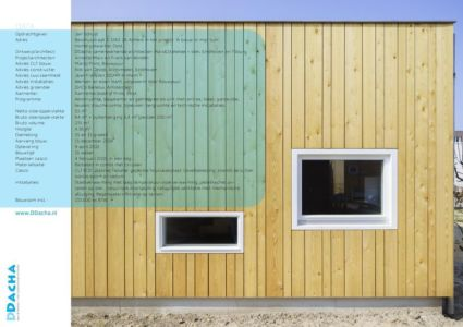 façade bois & ouvertures vitrées - Biobased-Living-Concept par DDacha - Pays-Bas