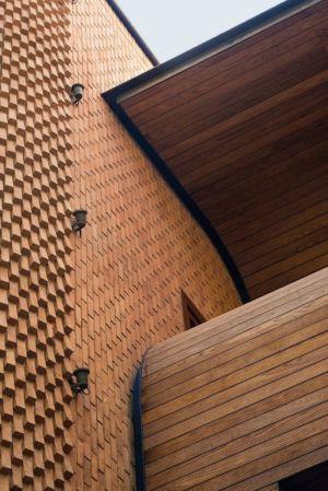 façade briques & bois - Kaveh-House par Pargar Architecture and Design Studio - Téhéran, Iran