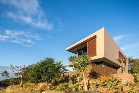 façade côté - Aloe Ridge House par Metropole Architects - Kwa Zulu Natal, Afrique du Sud
