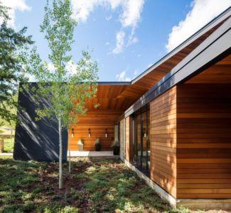 façade côté - Butte Residence par Carney Logan Burke Architects - Jackson, Usa