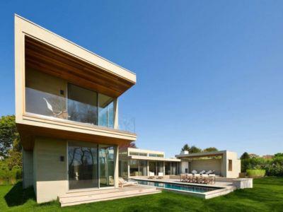 façade côté - Fieldview house par Blaze Makoid Architecture - East Hampton, Usa