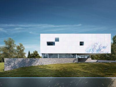 façade côté - House O by Michal Nowak - Wiesbaden, Allemagne